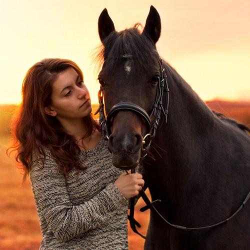 Jasmin und ihr Welsh-Pony Golda